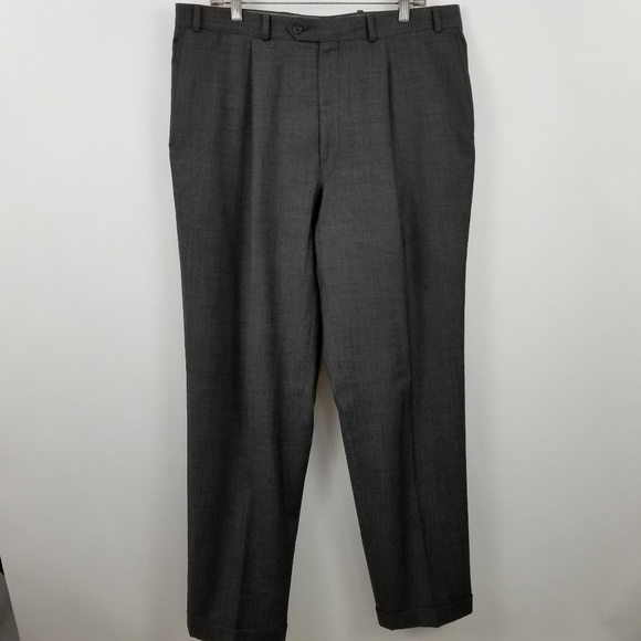 Calvin Klein Other - Calvin Klein Pleated Charcoal Gray Suit Dress Pant